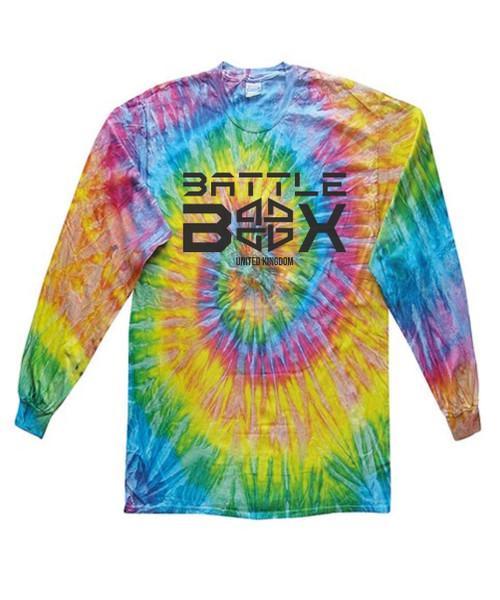 BattleBox UK Saturn Rainbow Long Sleeve T-shirt Unisex Cotton Tie-Dye  - www.BattleBoxUk.com