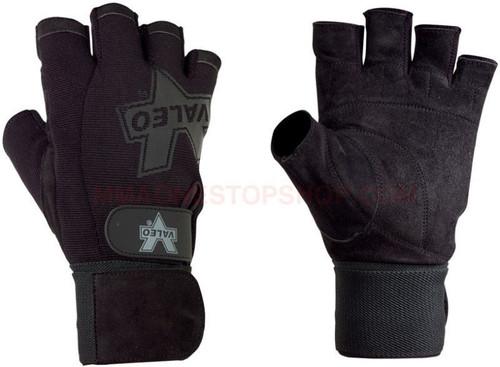 CrossTrainingUK - Valeo Performance Wrist Wrap Pro Lifting Gloves Black