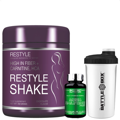 RESTYLE SHAKE,High in fiber + carnitine, HCA,SCITEC NUTRITION