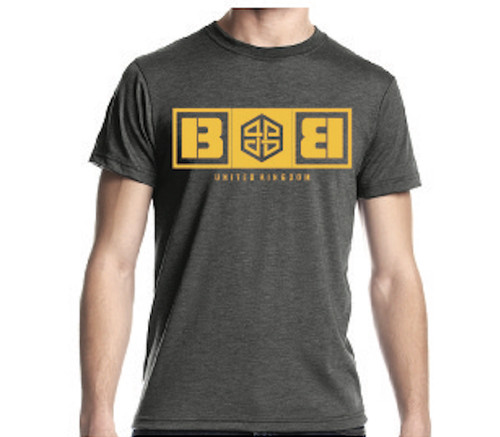 Battle Box Logo Charcoal Yellow T-shirt