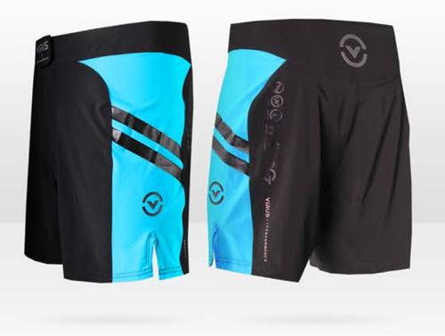 "VIRUS Disaster Combat Shorts - Cub Swanson ""Killer Cub"" Black Body With Blue Panel"