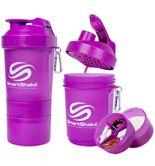 SmartShake Protein Smart Shaker 600ml Neon Purple