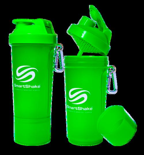 SmartShake Protein Slim Line Smart Shaker 500ml Neon Green