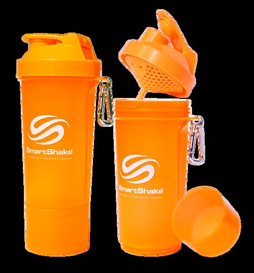 SmartShake Protein Slim Line Smart Shaker 500ml Neon Orange