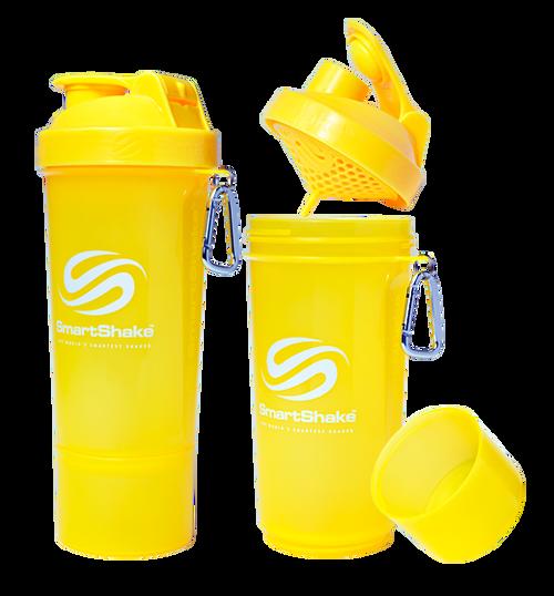 SmartShake Protein Slim Line Smart Shaker 500ml Neon Yellow