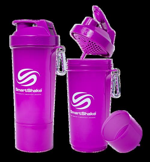 SmartShake Protein Slim Line Smart Shaker 500ml Neon Purple