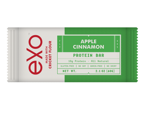 EXO CRICKET PROTEIN 100% PALEO PEANUT APPLE CINNAMON BOX