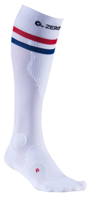 ZERO POINT INTENSE COMPRESSION SOCKS - 2 STRIPE - LIMITED EDITION WHITE - BattleBoxUk.com