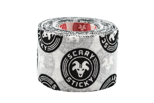 "Goat Tape Scary Sticky Black and White Premium Athletic/Weightlifting Tape 1.5"" X 10 Yards  - www.BattleBoxUk.com"