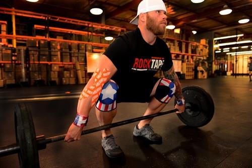 Rocktape US Flag Knee Caps  - www.battleboxuk.com