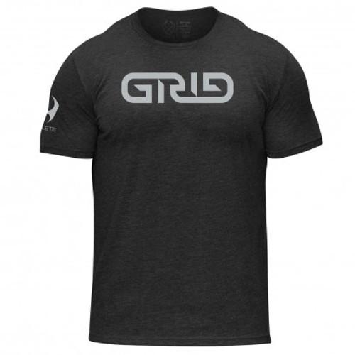 Hylete GRID tri-blend crew tee (vintage black/electric silver)