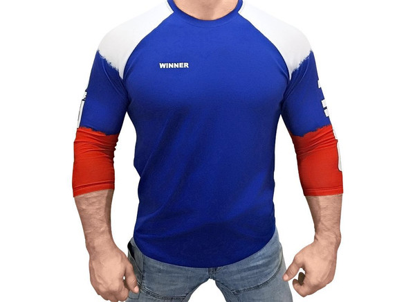 Klokov WINNER Weightlifting Blue Longsleeve www.battleboxuk.com