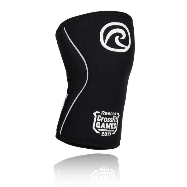 REHBAND RX KNEE SUPPORT 7MM, LIMITED EDITION WHITE LOGO 2017 REEBOK CROSSFIT GAMES www.battleboxuk.com