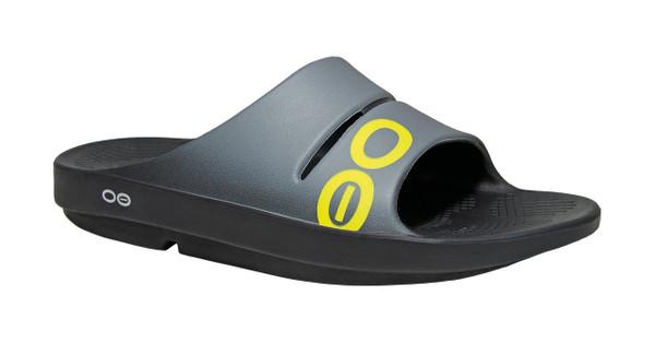 OOFOS MEN'S OOAHH SPORT GREY Recovery Footwear Slide In Flip Flop Sandal - www.BattleBoxUk.com