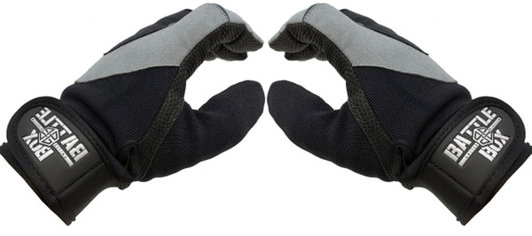 BattleBox UK™ Gloves | WOD Edition 2.0 Stone Grey Black - www.BattleBoxUk.com