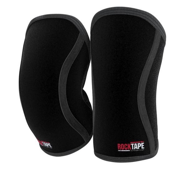 RockTAPE Assassins ® Black Knee Sleeves - Knee Support & Protection Caps 5mm or 7mm - www.BattleBoxUk.com