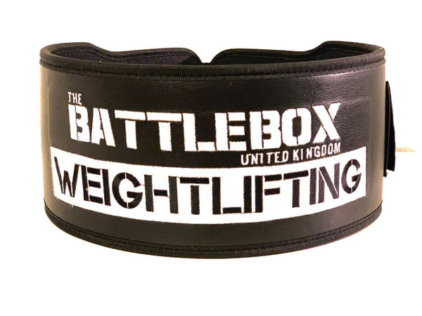 "BattleBox UK™ | Weightlifting Nylon Leather 5"" Belt | Black www.battleboxuk.com"