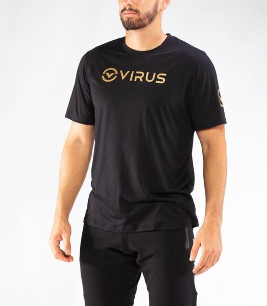 VIRUS   PC109   FOREVER TEE   BLACK & GOLD www.battleboxuk.com