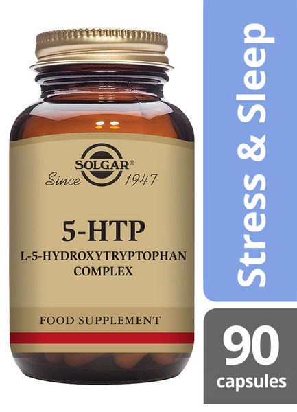 Solgar® | F5-HTP (L-5-Hydroxytryptophan) Complex Vegetable Capsules - Pack of 90 (E1453E) www.battleboxuk.com