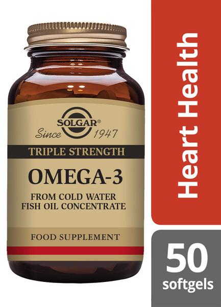 Solgar® | Triple Strength Omega-3 Softgels - Pack of 50 (E2057) www.battleboxuk.com