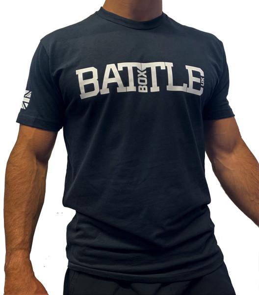 BattleBox UK™ | WOD 2.0 | Short  Sleeve Sueded T-shirt | Black &White - www.BattleBoxUK.com