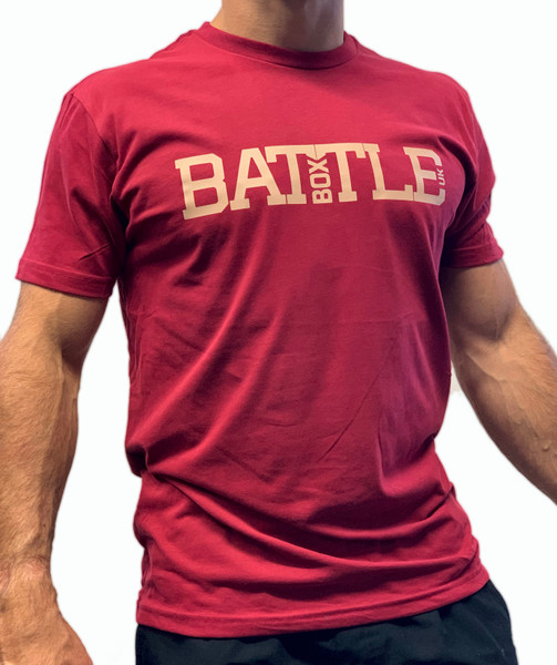 BattleBox UK™ | WOD 2.0 | Short Sleeve Sueded T-shirt | Cardinal Red - www.BattleBoxUk.com