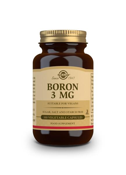 Solgar | BORON 3MG - 100 Capsules