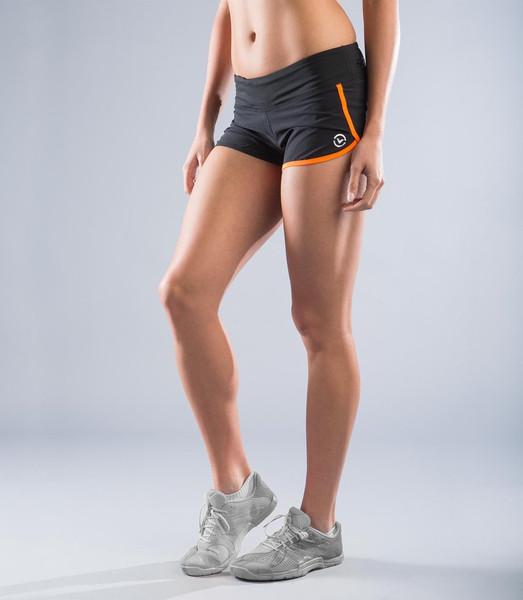 VIRUS | Women's AirFlex | Training Short | Black & Orange (ECo8) - www.BattleBoxUk.com
