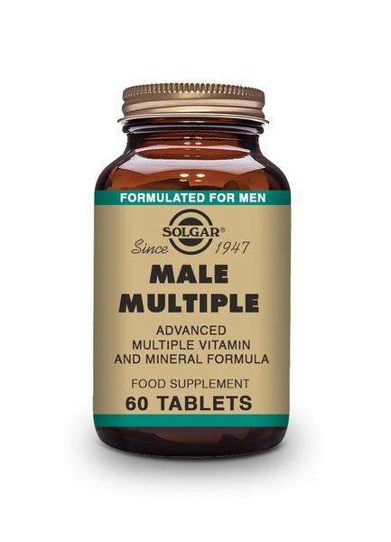Solgar Male Multiple Tablets - Pack of 60 (E1724) www.battleboxuk.com
