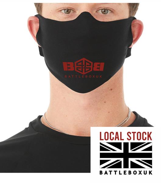 Black Mouth Face Reusable Mask Daily Lightweight Fabric Face Cover £3.45 - www.BattleBoxUk.com
