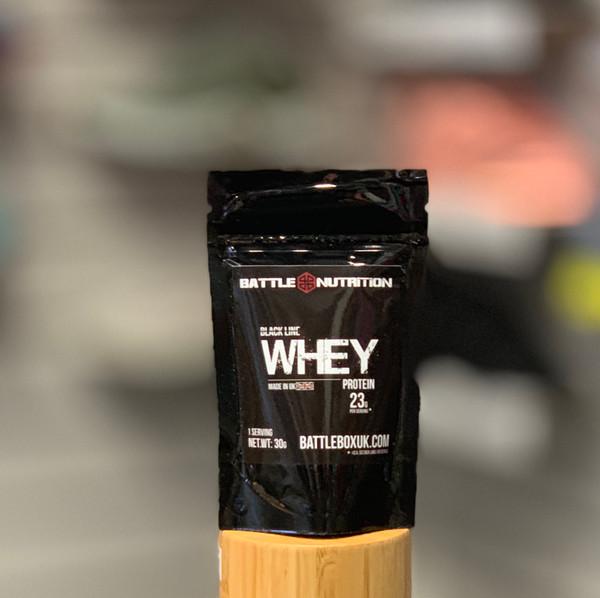 Battle Nutrition   Black Line WHEY Protein Powder   23g Protein   Chocolate 30g  - www.BattleBoxUK.com