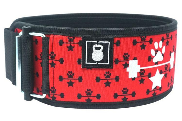 2POOD | RED WAGS & WEIGHTS STRAIGHT WEIGHTLIFTING BELT  - www.BattleBoxUk.com
