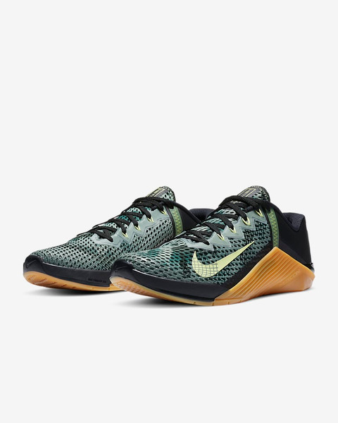 Nike Metcon 6 | Black/Limelight/Gum Medium Brown/Limelight CK9388-032  www.battleboxuk.com