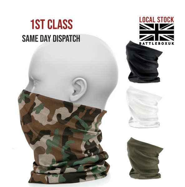 Face Cover Snood Mask Reusable Washable Adult Breathable Shield Breathable Scarf  - www.BattleBoxUk.com