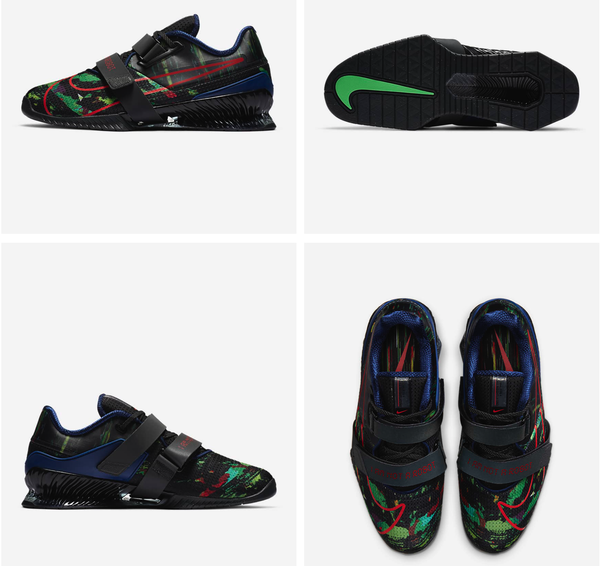 Nike Romaleos 4 AMP Men's Training Shoe Black/Dark Smoke Grey/Poison Green/Flash Crimson (CU6452-060) www.battleboxuk.com