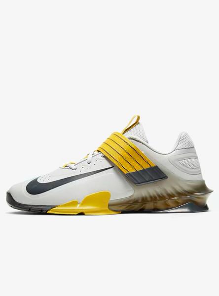 Nike Savaleos Weightlifting Shoe Grey Fog/Dark Smoke Grey/Bright Citron/Dark Smoke Grey (CV5708-007) www.battleboxuk.com