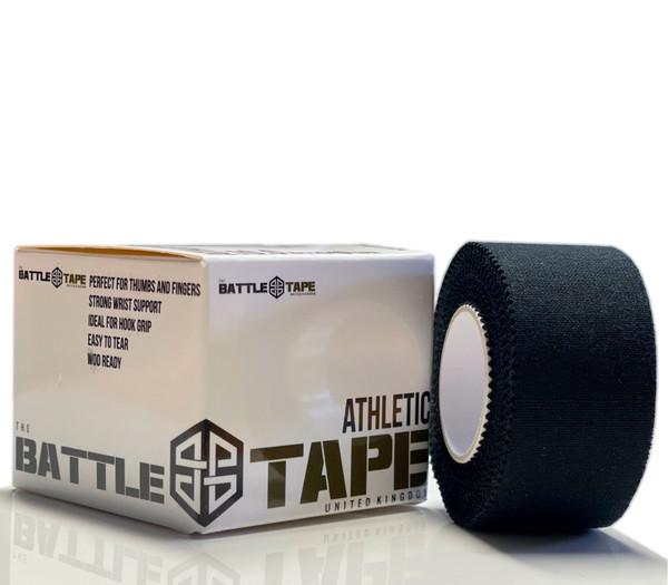 BattleTape™ | Athletic and Weightlifting Tape 2.5cm x 5m | Solid Black  Finger Tape - www.BattleBoxUk.com