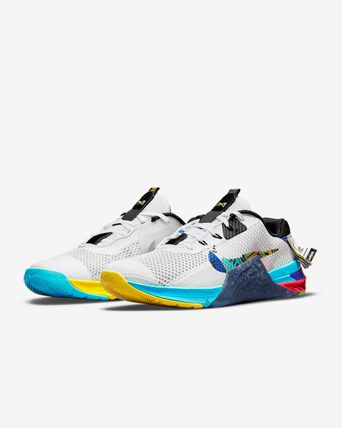 Nike Metcon 7 AMP Training Shoe  White/Black/Yellow Strike/Multi-Colour  DC9510-199 www.BattleBoxUk.com