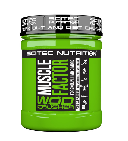 """WOD CRUSHER """"MUSCLE FACTOR"""" RECOVERY-STRENGTH FORSKOLIN, HMB & MORE"""