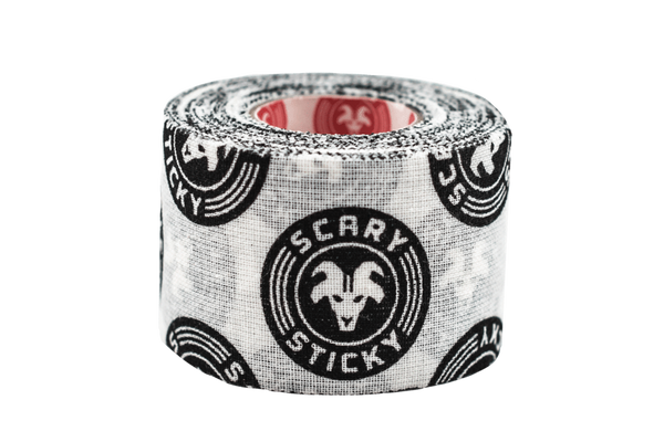 """Goat Tape Scary Sticky Black and White Premium Athletic/Weightlifting Tape 1.5"""" X 10 Yards  - www.BattleBoxUk.com"""