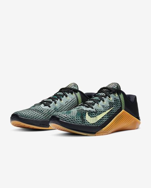 Rana chasquido Variante  Nike Metcon 6 | Black Limelight Gum Medium Brown Limelight - Battle Box UK