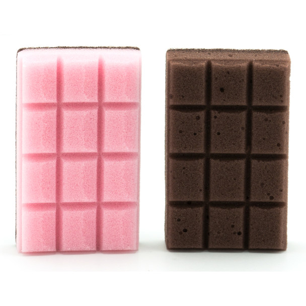 Chocolate Bar Fun Kitchen Sponge 2pc