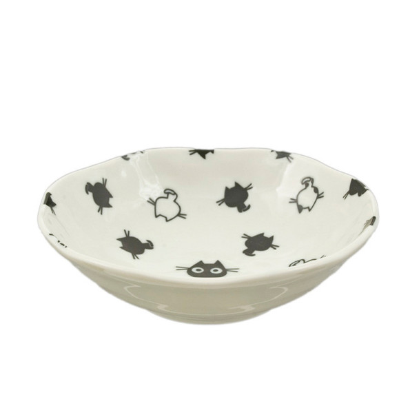 "Kids Black & White Kitty Bowl 5-1/4"" Set of 5"