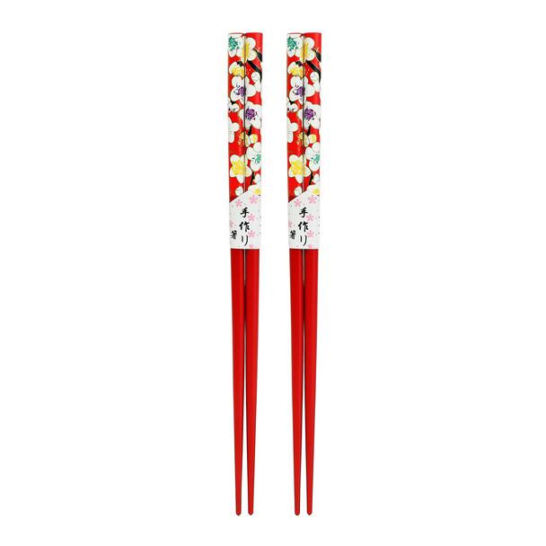 Red Petite Blossom Chopsticks 2pc Set