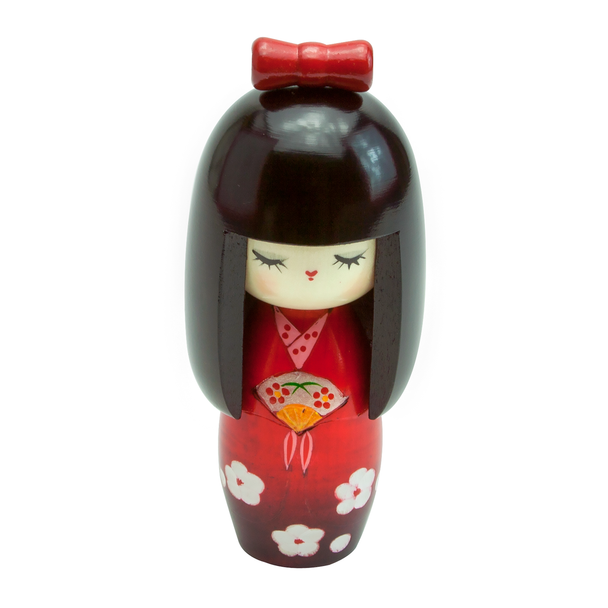"Wood Kokeshi Doll Figurine 6""H"