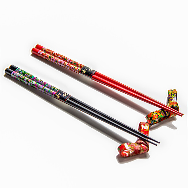 Hanami Chopsticks with Rests Set of 2