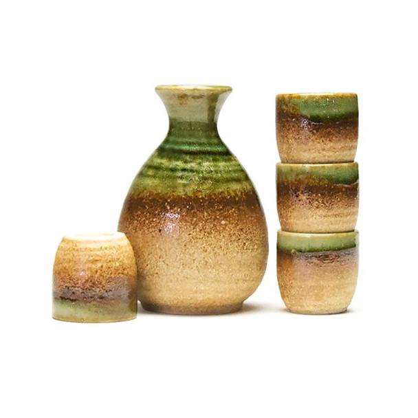 Green Gradient Sake Set