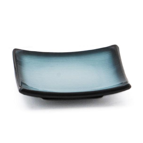 JX Blue Gradient Square Plate - Set of 5