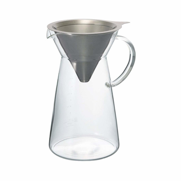 Hario Stainless Steel Dripper with Decanter 700ml - Paperless Dripper