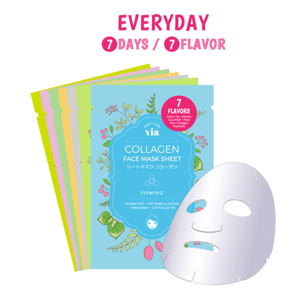 VIA Face Mask Sheet 7 Flavor Mix Set